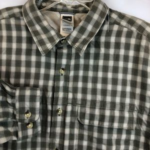 The North Face Men's Large Long Sleeve Plaid Shirt